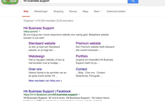 Google zoekresultaten